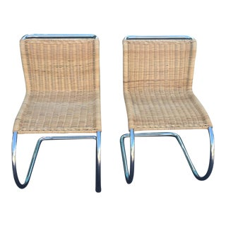 Mid Century Modern Tubular Chrome Cantilever Chairs - a Pair For Sale