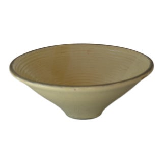 1960s Vintage Hungarian Handmade Wheel Thrown Stoneware Bowl For Sale