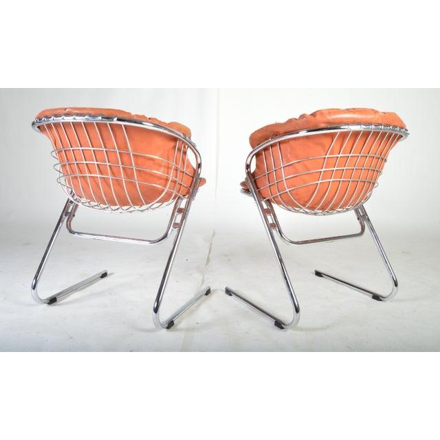Gastone Rinaldi Gastone Rinaldi for Rima of Italy Mid Century Chrome Dining Chairs - Set of 6 For Sale - Image 4 of 5