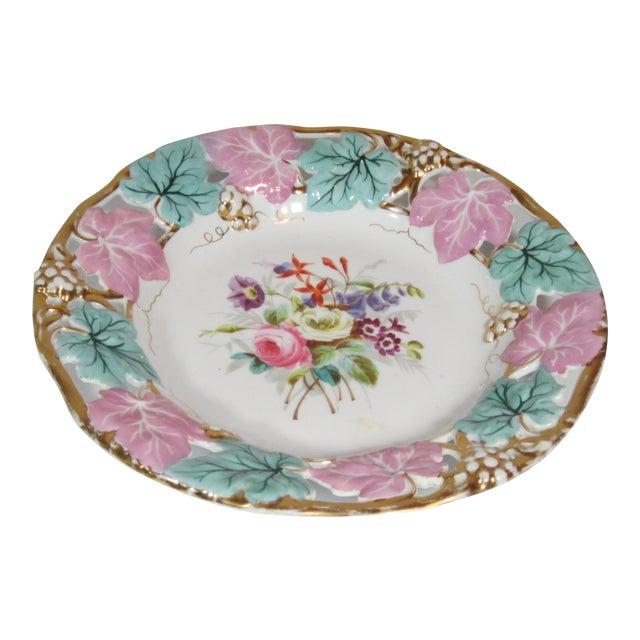 German Mauve & Turquoise Decorative Bowl For Sale