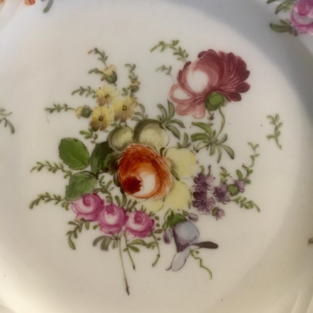 Victorian Helena Wolfsohn Dresden Handpainted Dessert Plates - Set of 3 For Sale - Image 3 of 13