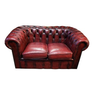 Vintage Chesterfield Two Seat Sofa C.1980 For Sale