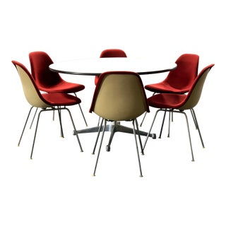 Early Eames Aluminum Group Table & 6 DSX Chairs for Herman Miller For Sale