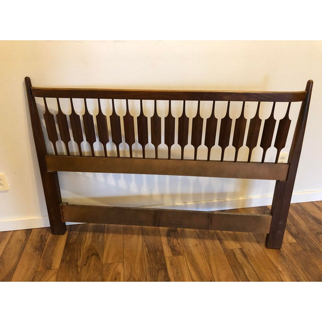 Gorgeous walnut headboard that can be used with either a full size or queen size bed. In the late 1950's, Stewart...