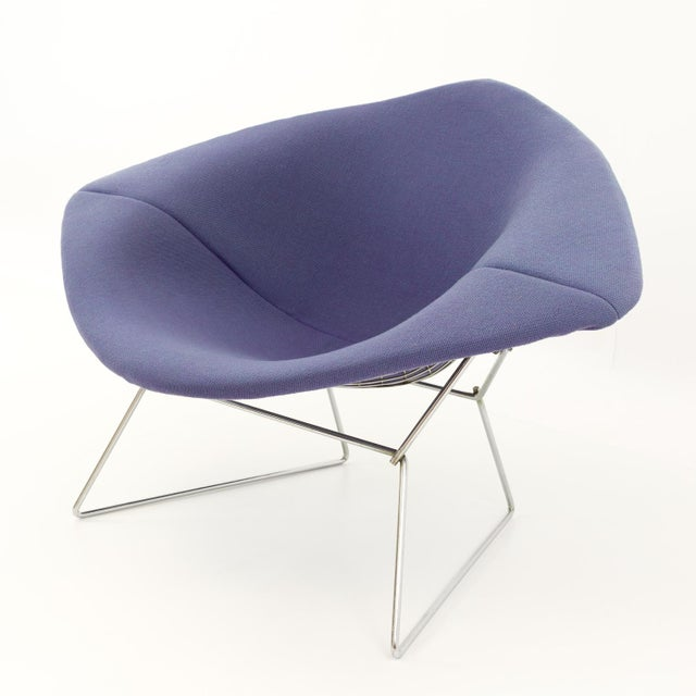 Vintage Mid-Century Harry Bertoia for Knoll Diamond Rocking Chair & Ottoman - 2 Pieces For Sale - Image 9 of 13