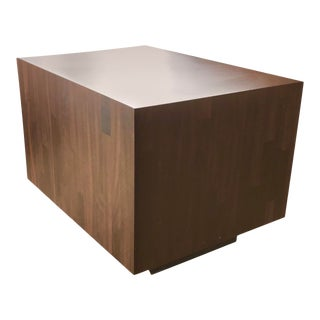 Vintage Milo Baughman Style Floating Cube Table For Sale