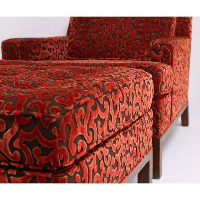 1960'S VINTAGE HARVEY PROBBER LOUNGE CHAIR & OTTOMAN For Sale - Image 9 of 10