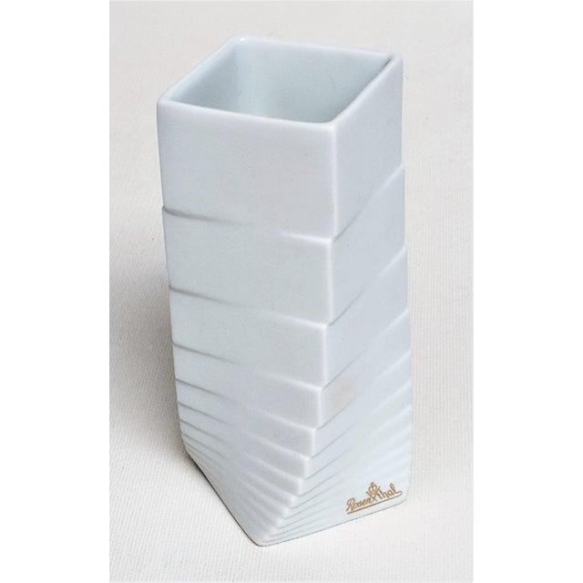1970s Mid-Century Modern Hausler-Goltz for Rosenthal White Ceramic Vase For Sale - Image 11 of 11
