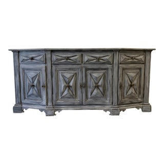 Italian Painted Tuscan Credenza Sideboard - Early 20th C For Sale
