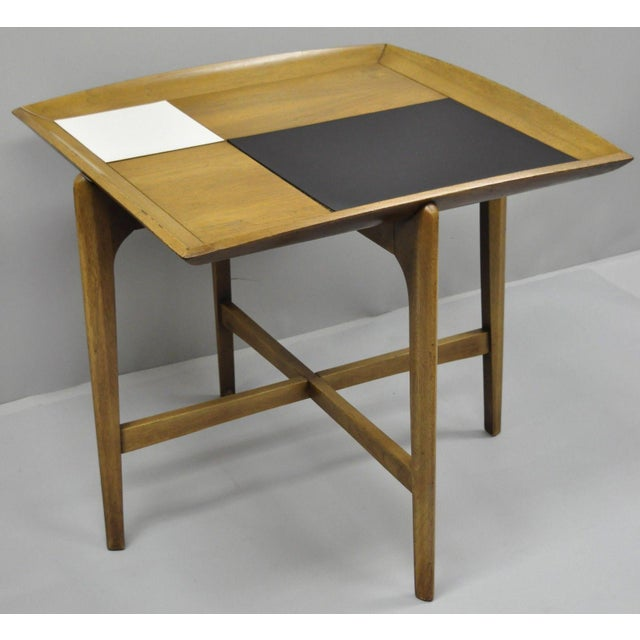Mid-Century Modern John Keal Brown Saltman Mid-Century Danish Modern Sculptural Walnut Side Table For Sale - Image 3 of 12