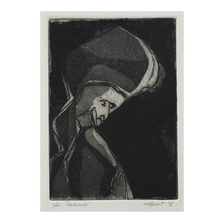 """""""Palemon"""" 1975 Abstracted Figure Etching For Sale"""