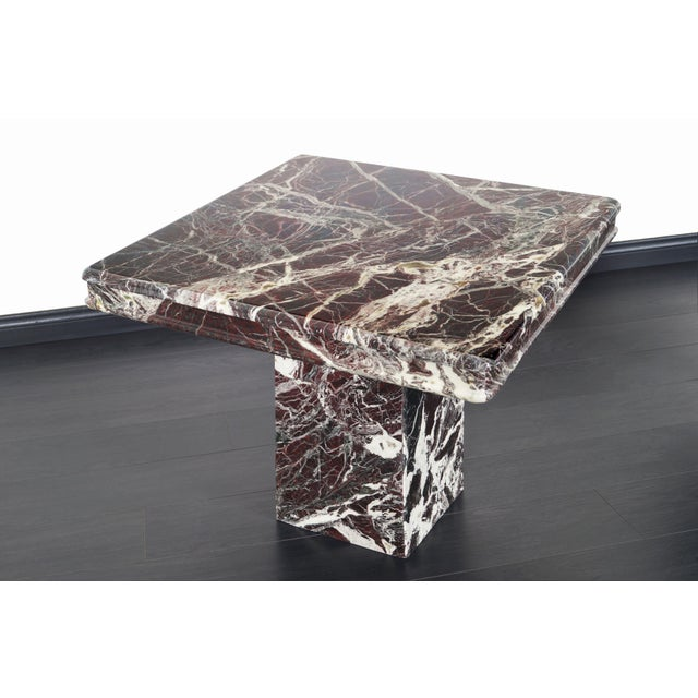 Vintage Italian Marble Side Tables - a Pair For Sale In Los Angeles - Image 6 of 11