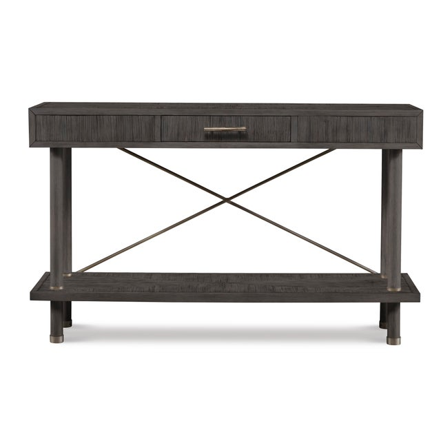 This piece is available only as shown, and will ship in 2-3 weeks. An elegant rectangular console table from the Century...