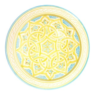 Yellow Moroccan Atlas Plate For Sale
