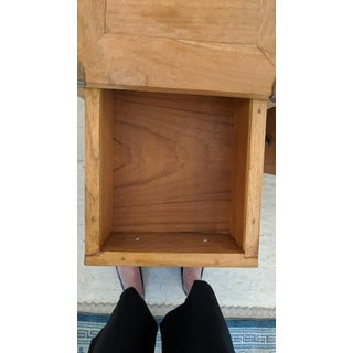1970's Vintage Campaign Style Teak and Brass Nightstands-a Pair Preview