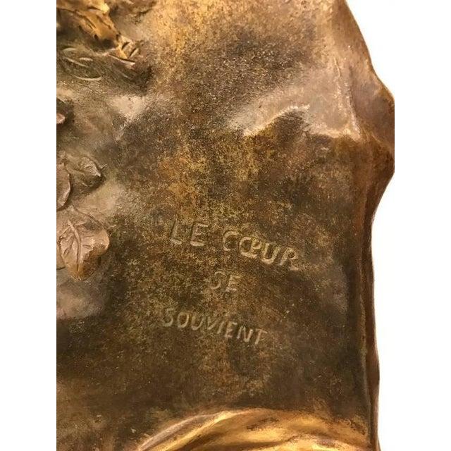 """Emile Louis Picault Signed Bronze Sculpture """"Memoria"""" - Image 7 of 10"""