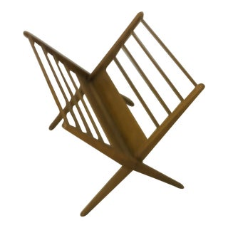 Mid Century Folding Magazine Rack For Sale