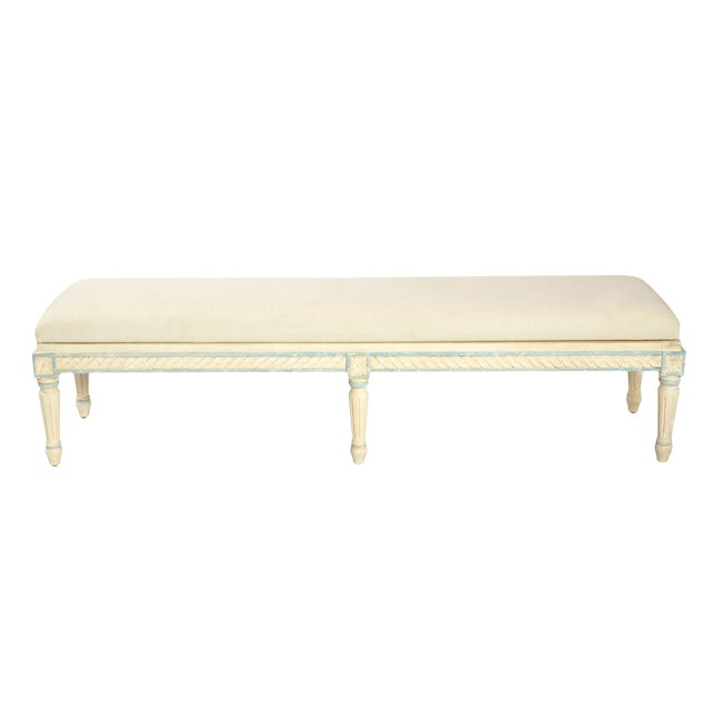French Style Long Bench - Image 1 of 2