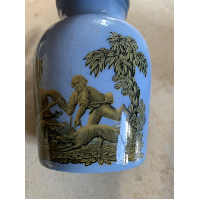1880 Blue Pratt Ware Meat Jars - Set of 4 For Sale In San Francisco - Image 6 of 13