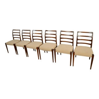 Moller Style Dining Chairs Rosewood Dining Chairs - Set of 6 For Sale