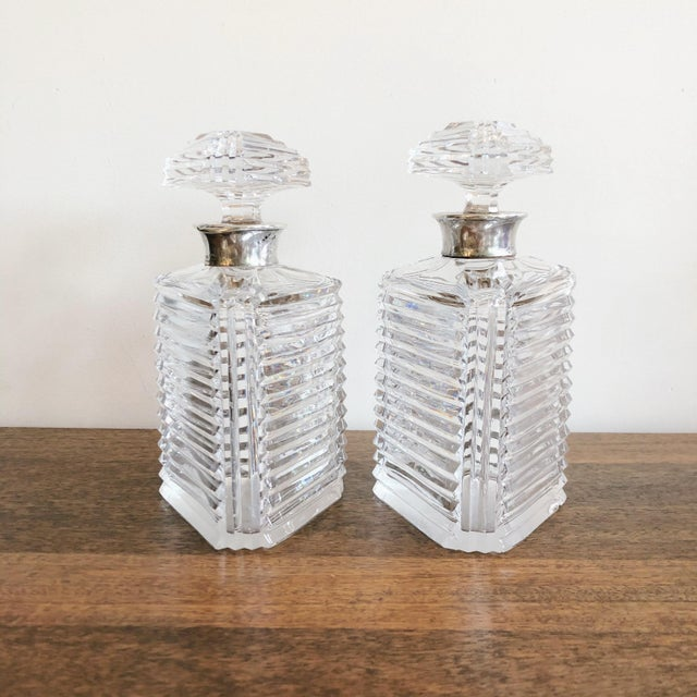 Asprey Crystal Decanters With Sterling Hardware - a Pair For Sale - Image 13 of 13