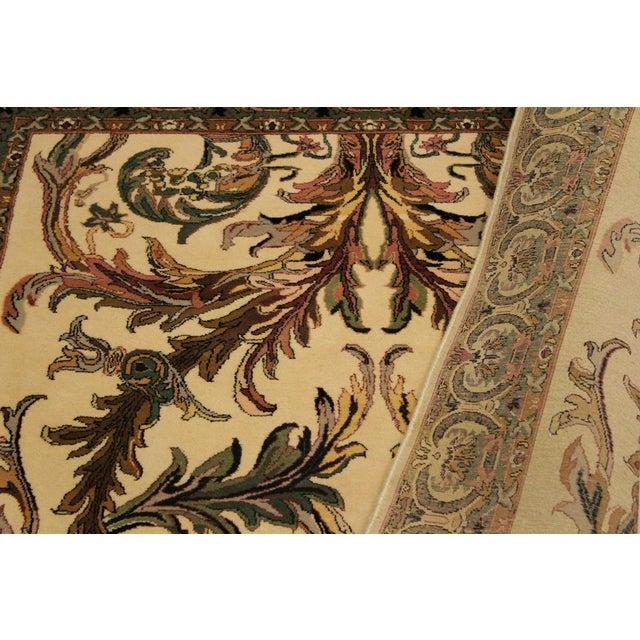 Art Nouveau Bhati Pak-Persian Zelda Ivory/Pink Wool Rug - 4'1 X 6'7 For Sale - Image 4 of 8