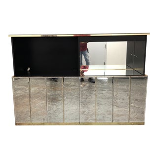 Ello Custom Motorized Mirrored Television Bar Cabinet For Sale
