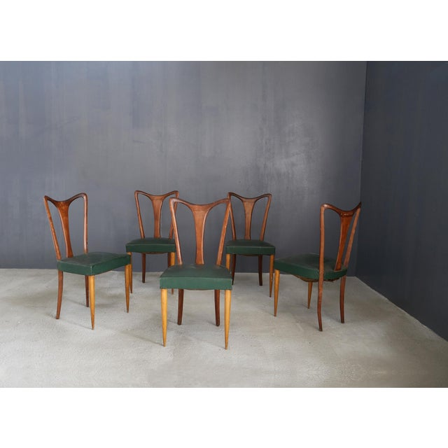 1940s 6 Chairs by Guglielmo Ulrich From 1940. For Sale - Image 5 of 5