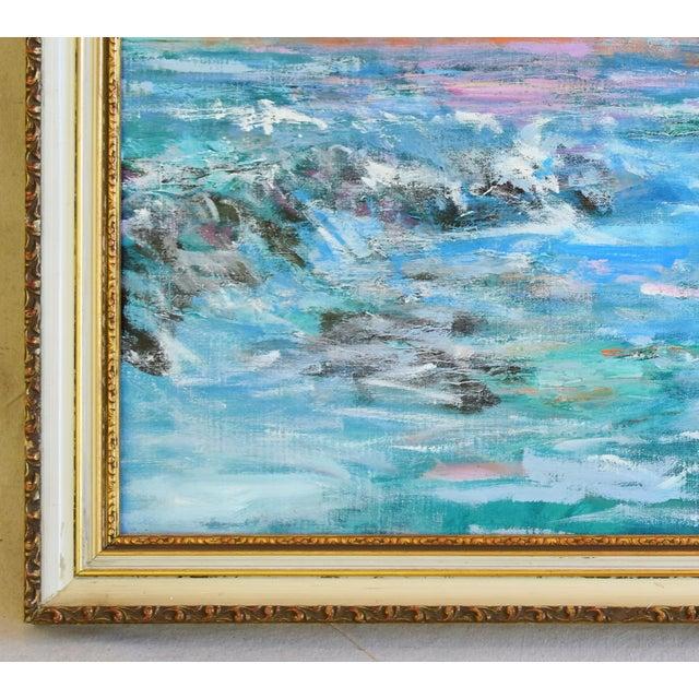 Juan Guzman Ventura California Crashing Ocean Waves Oil Painting For Sale In Los Angeles - Image 6 of 10
