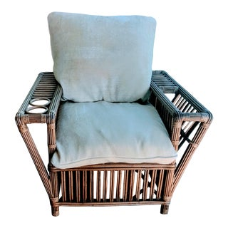 Palecek Reproduction Stick Wicker and Rattan Bamboo Chair