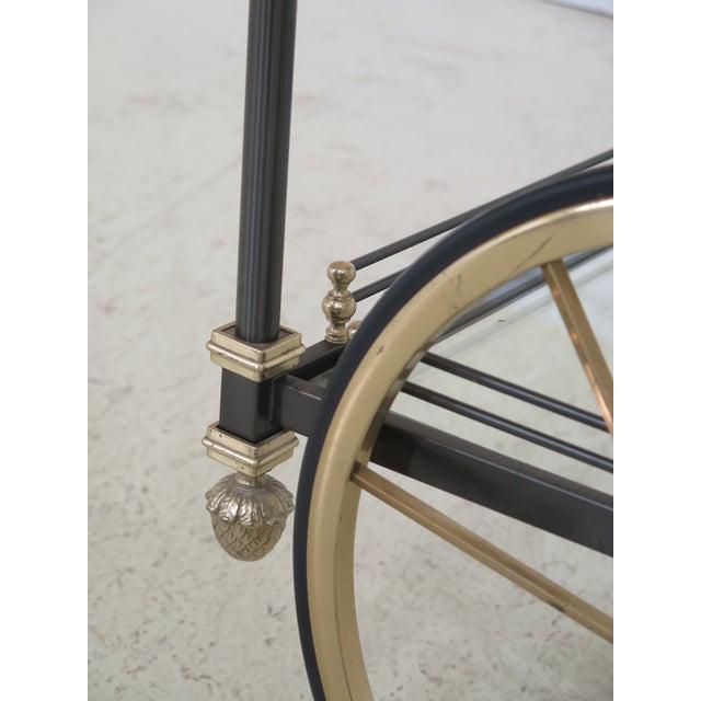 Brass Regency Style Brass & Steel Tea Cart Server For Sale - Image 7 of 11