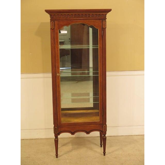 Louis XVI-Style Walnut Vitrine Curio Cabinet - Image 2 of 11