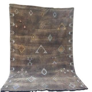 North African Motif Sabra Silk Rug - 5′ × 9′9″