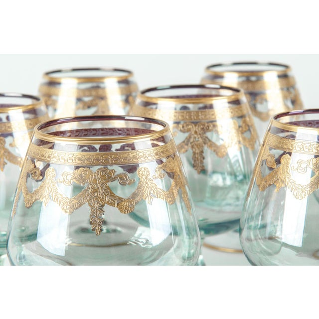 Murano Vintage Murano Crystal Brandy / Snifter Set 12 Pieces For Sale - Image 4 of 7