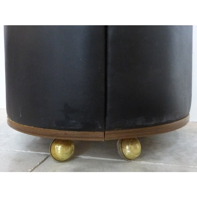 Mid-Century Modern Round Expanding Rolling Bar - Image 7 of 9