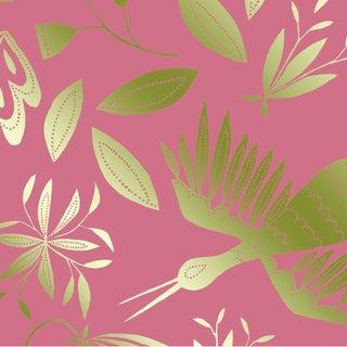 Julia Kipling Otomi Grand Wallpaper, Sample, in Rose, Gold Flash For Sale