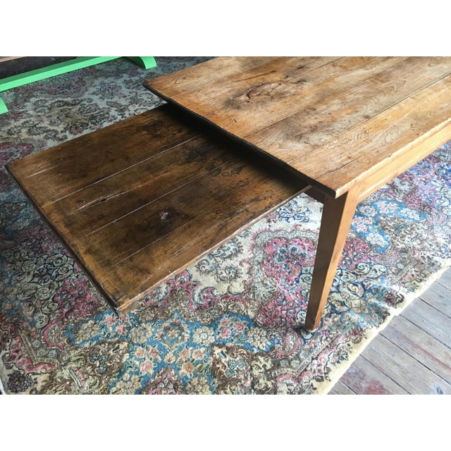 Pine Antique Pine Farm Table For Sale - Image 7 of 10