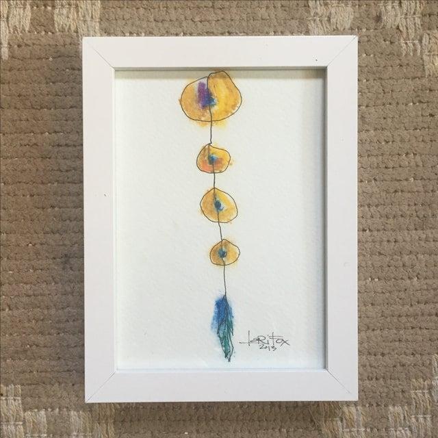 "Original ""Totem"" Oil Pastel - Image 2 of 6"