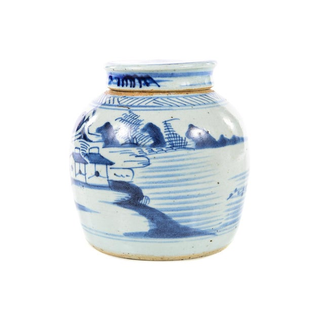 White Antique Chinese Blue & White Jar For Sale - Image 8 of 9