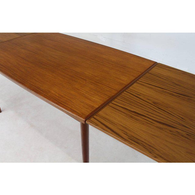 Danish Modern Rectangular Boat Shape Refectory Dining Table For Sale In New York - Image 6 of 8