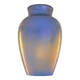 1920s Iridescent Delft Lusterware Vase For Sale
