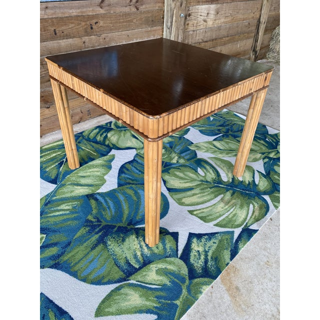Vintage Split Bamboo Table For Sale - Image 10 of 13