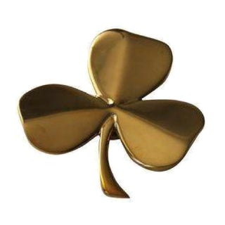 Brass Shamrock Door Knocker For Sale