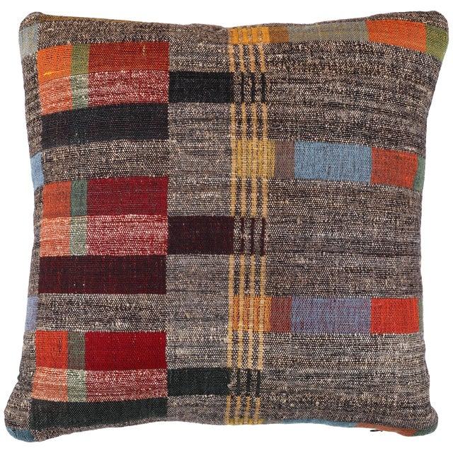 2010s Indian Handwoven Pillow New Japanese Stripe For Sale - Image 5 of 5