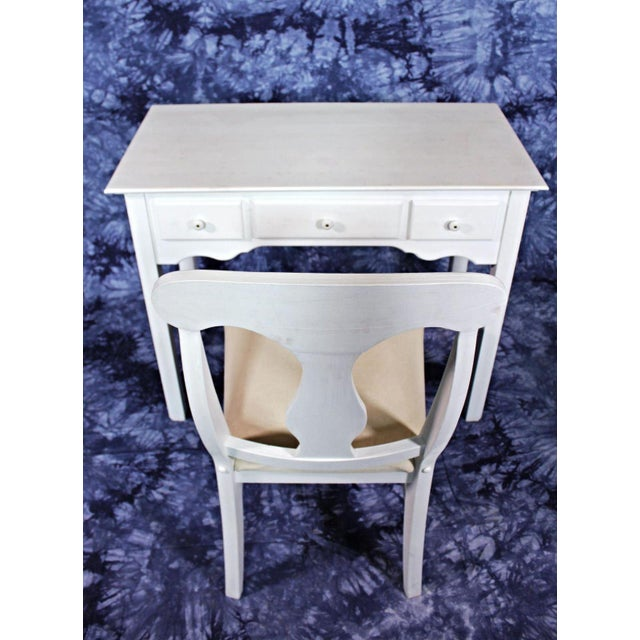 Whittier Furniture White Painted Children's Desk & Chair - Image 11 of 11