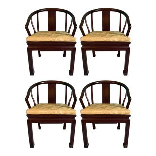 Mid-Century Asian Inspired Chairs - Set of 4 For Sale