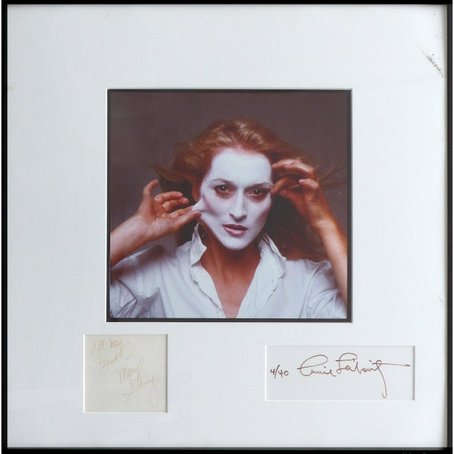 1981 Annie Leibovitz Photograph of Meryl Streep,Signed by Both, Numbered 4/40 For Sale - Image 11 of 11