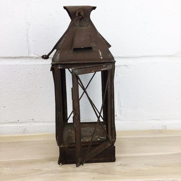 Antique Rustic French Style Candle Lantern - Image 3 of 10