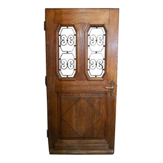1890s Antique French Entry Door For Sale