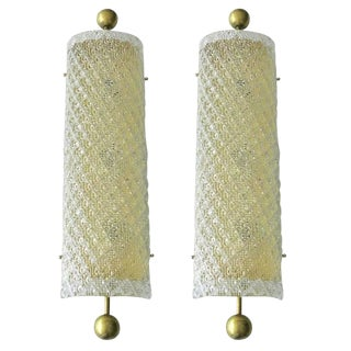 Fabio Ltd Diamante Sconces / Flush Mounts - a Pair For Sale